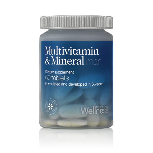 Мультивитамины и минералы для мужчин - идеально сбалансированная формула здоровья и силы